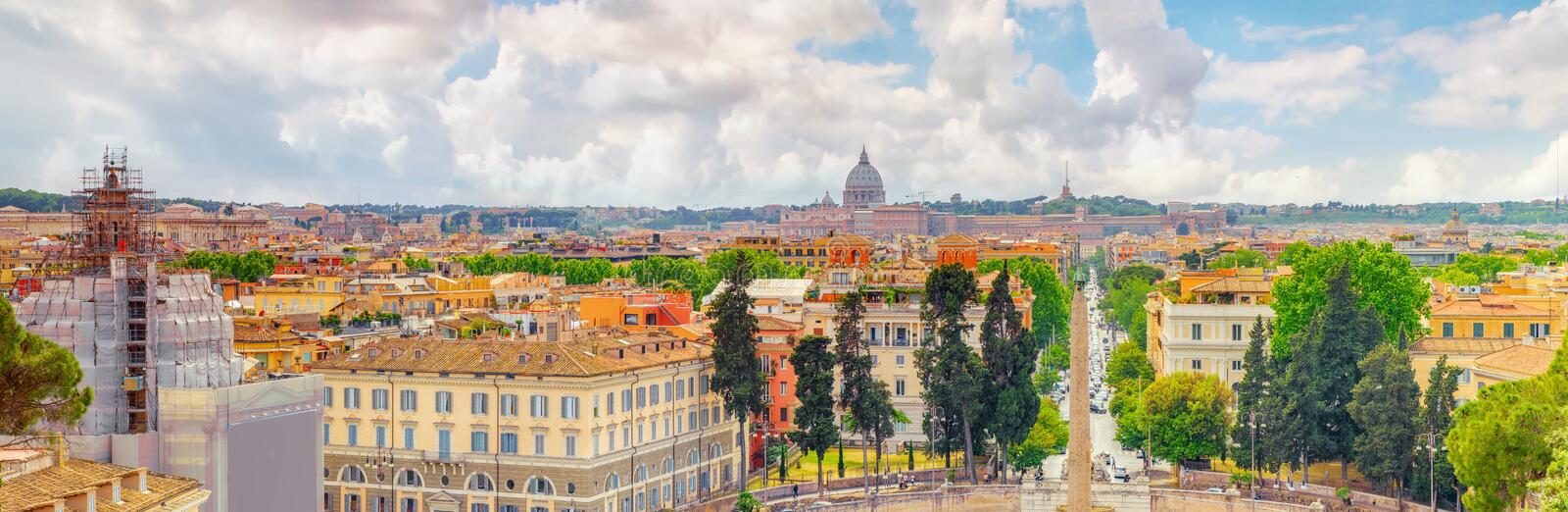 View Of The City Of Rome From Above, From The Hill Of Terrazza D ...