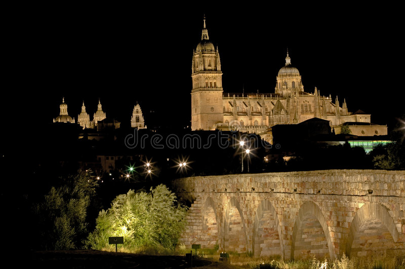 View on the city of Salamanca, Spain stock photography