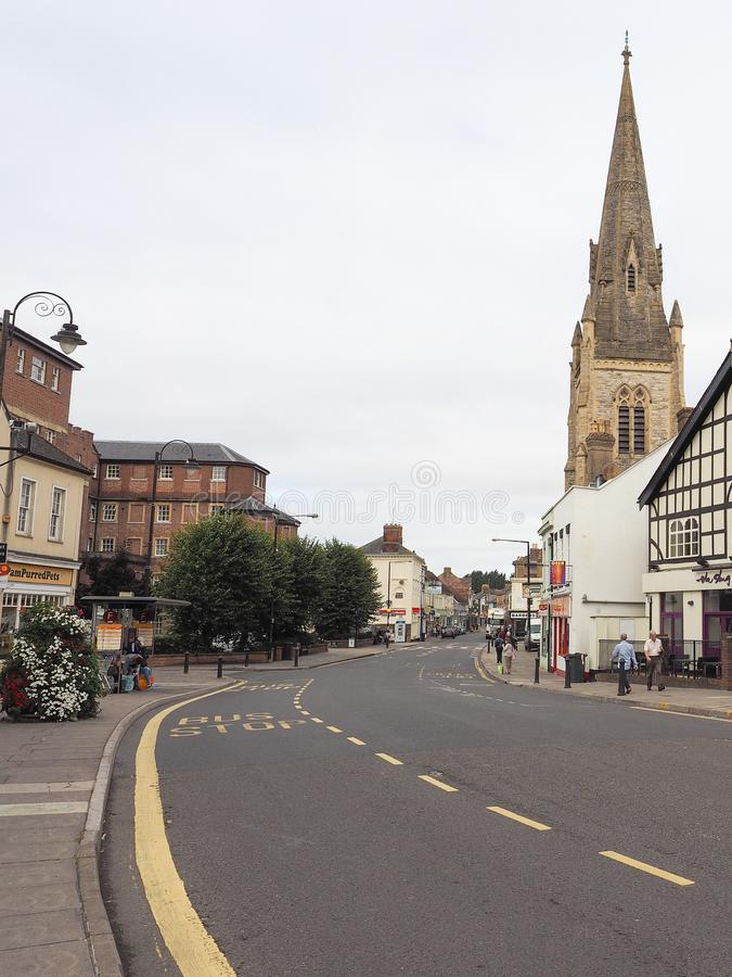 View of the city of Salisbury. SALISBURY, UK - CIRCA SEPTEMBER 2016: View of the city of Salisbury royalty free stock image