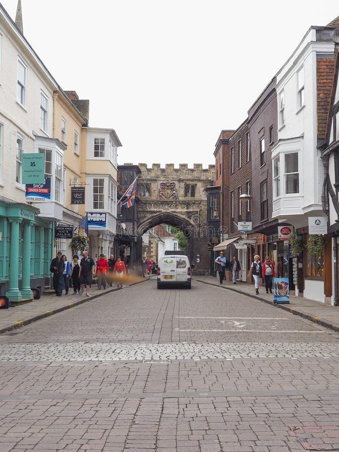 View of the city of Salisbury. SALISBURY, UK - CIRCA SEPTEMBER 2016: View of the city of Salisbury royalty free stock photo