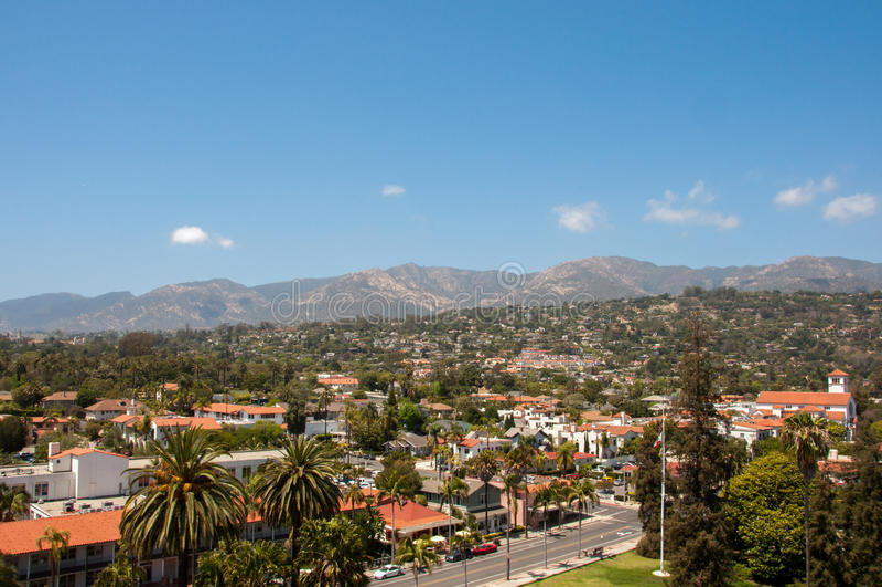 View of the city of Santa Barbara, California, USA. View of the city of Santa Barbara, California stock images