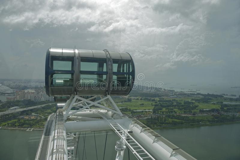 View of the city from Singapore Flyer stock photos