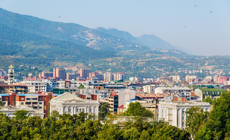 View of the city of Skopje stock photography
