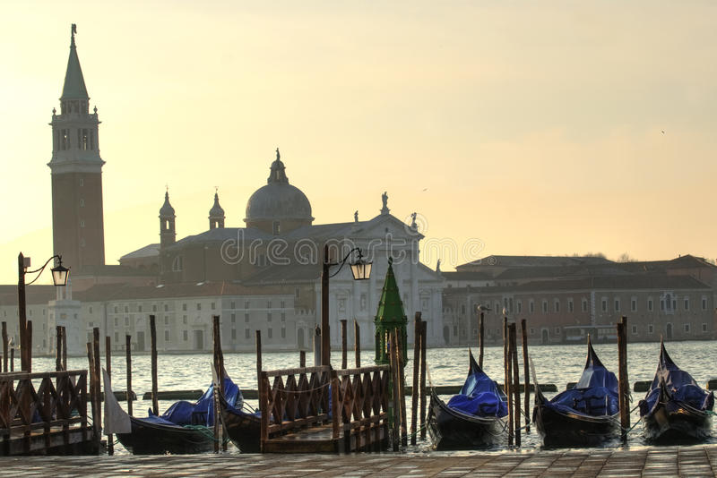 View of the city Venice. View of Venice at afternoom on January 15, 2013 royalty free stock image