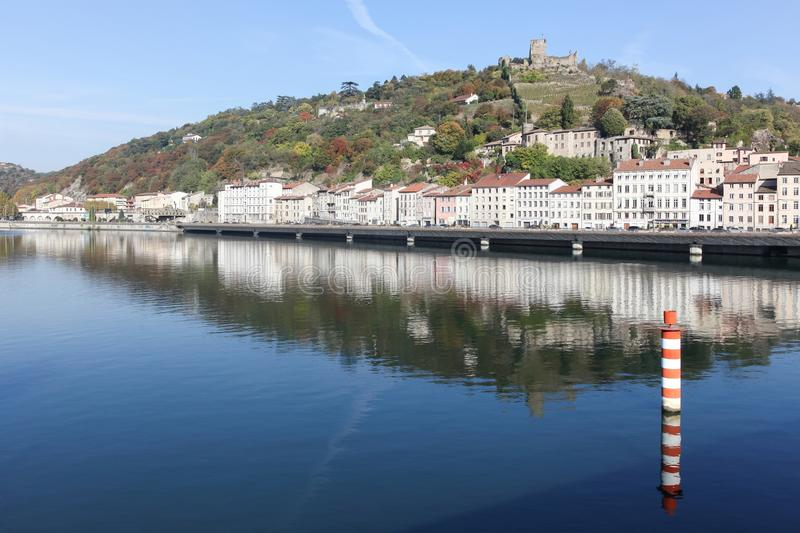 View of the city of Vienne in France royalty free stock photography