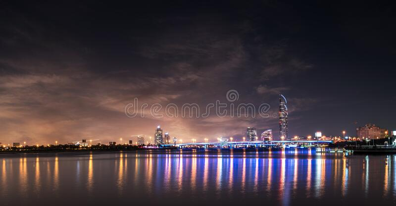 View of City at Waterfront royalty free stock photos