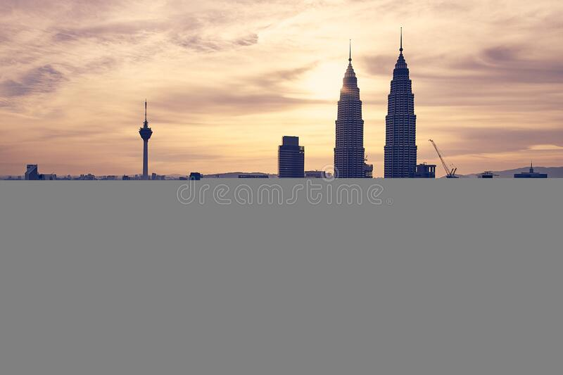 View of Cityscape Against Sky during Sunset stock images