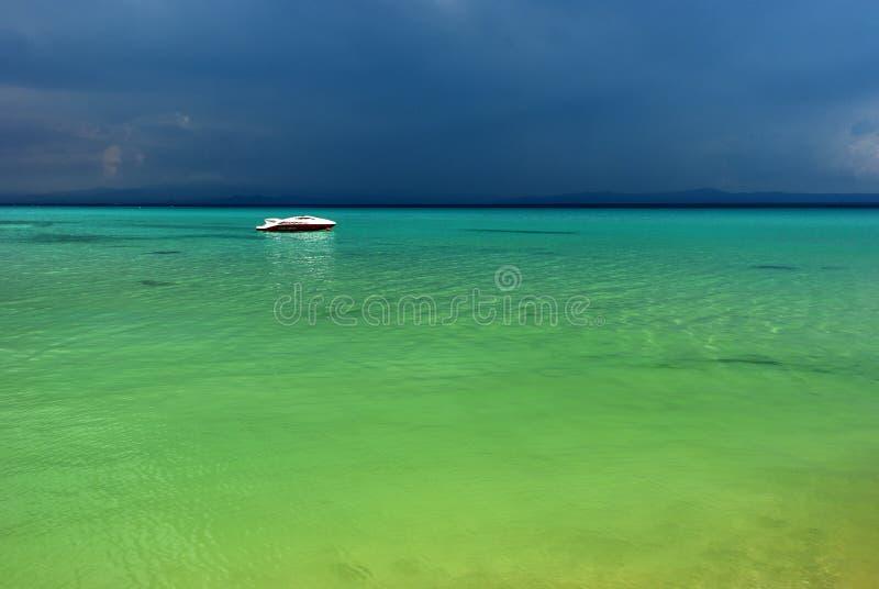 Holiday at the paradise beach royalty free stock photography