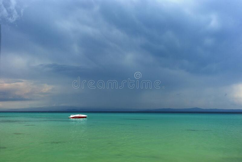 Holiday at the paradise beach royalty free stock image