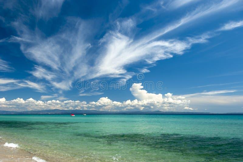 Holiday at the paradise beach royalty free stock photo