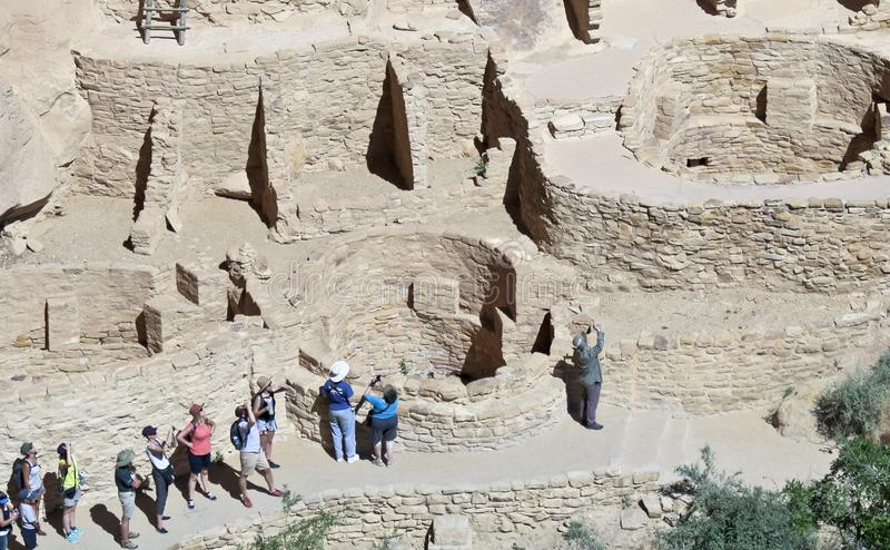 A View of Cliff Palace, Mesa Verde National Park royalty free stock image