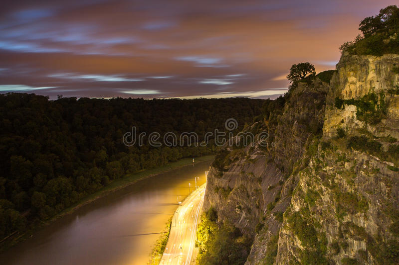 The view from the Clifton Suspension bridge royalty free stock photography