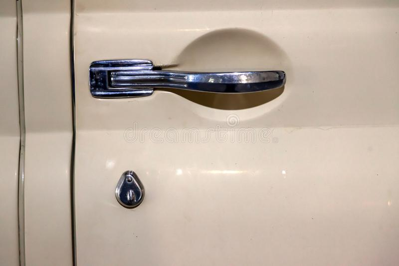 View On Closed Black Front Door With Handle With Keyless