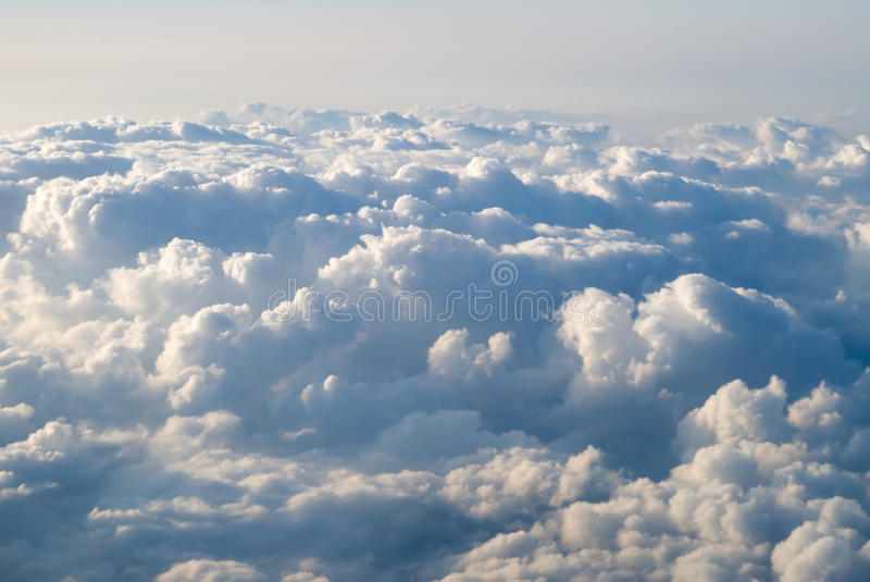 View at clouds stock image