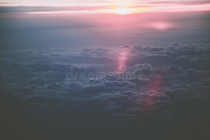View of Clouds during Sunset stock image