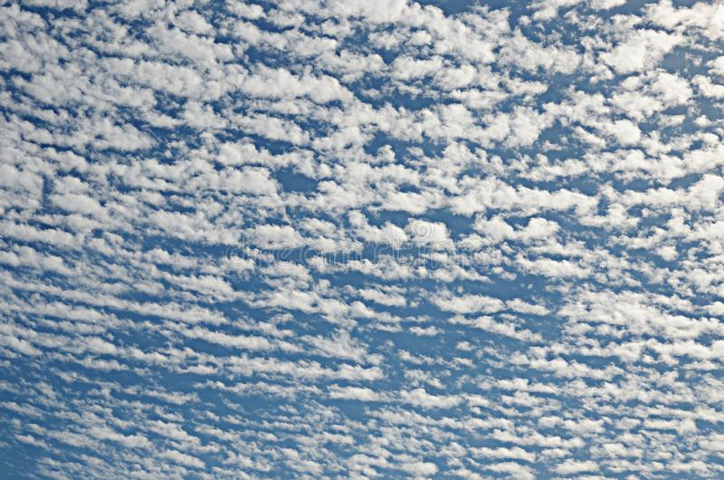 View of cloudy sky in summer day royalty free stock photos