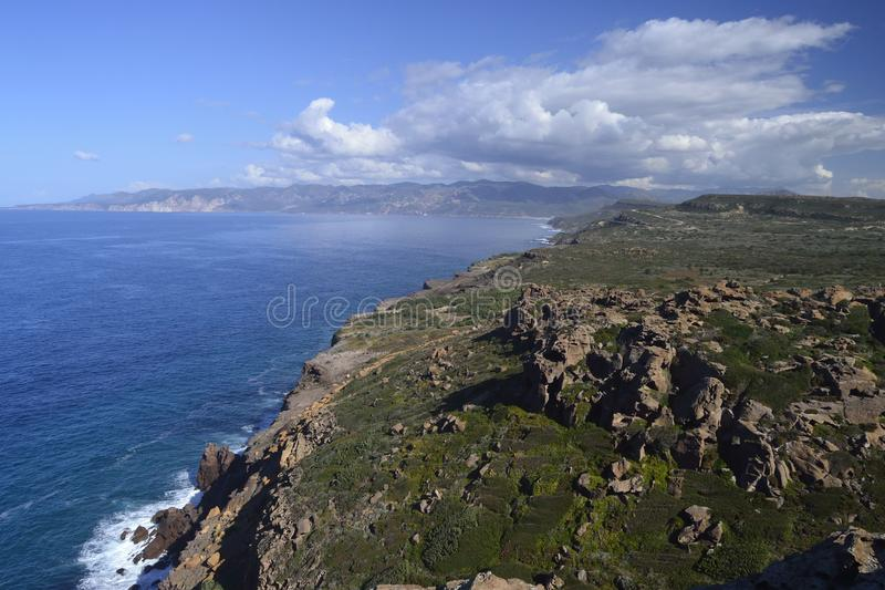 View of Capo Altano. View of the coast of Capo Altano royalty free stock photography