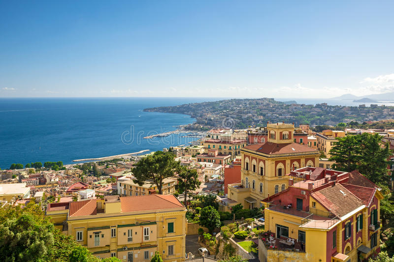 View of the coast of Naples, Italy royalty free stock photos