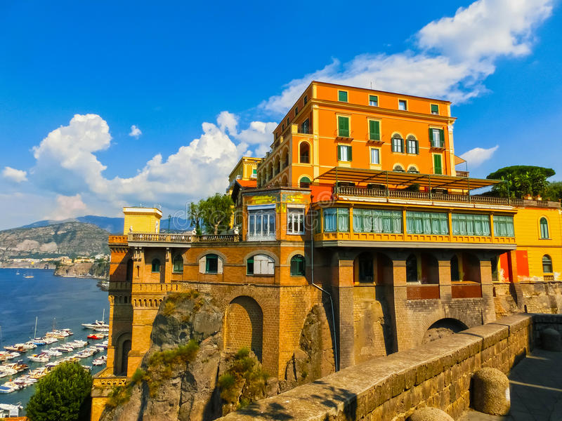 View of the coast in Sorrento, Italy. royalty free stock photo