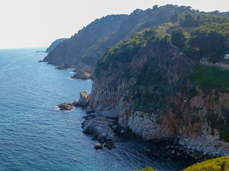 Coastline of Costa Brava near Tossa de Mar, Spain royalty free stock photos