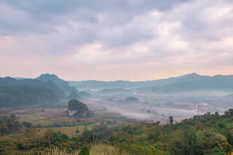View from coffee shop at Phu Langka Mountain. stock image