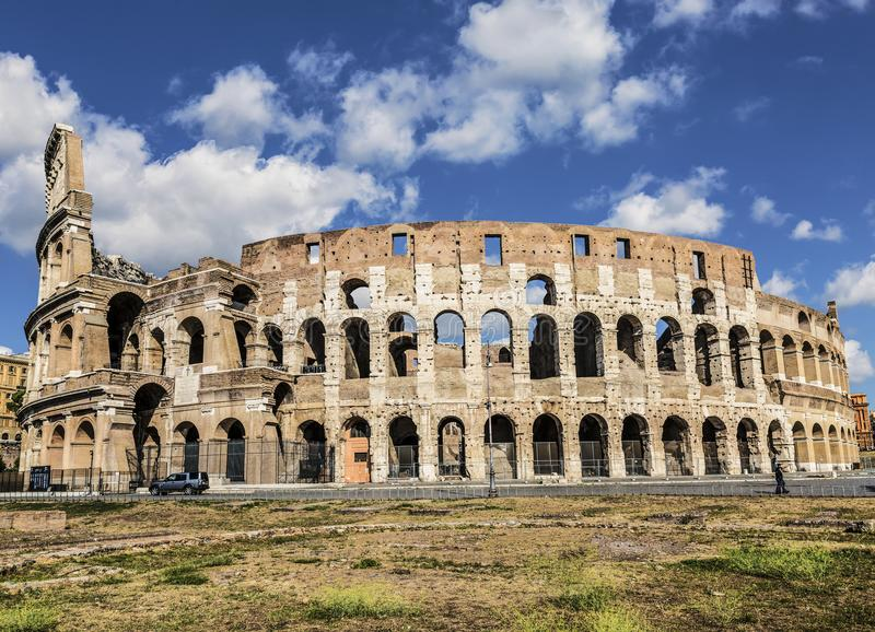 View of the Coliseum in Rome royalty free stock photography