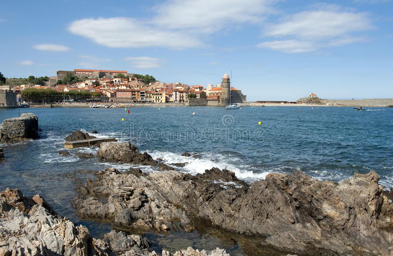 View At Collioure Royalty Free Stock Photos
