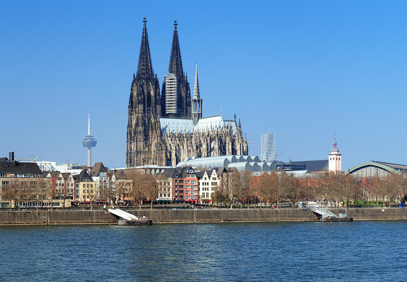 View on Cologne Cathedral, Germany royalty free stock photo