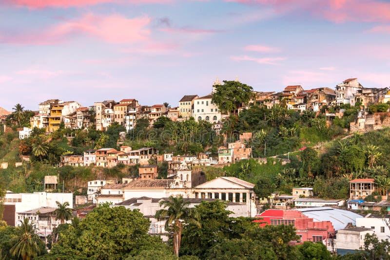 Panorama of Pelourinho district, Salvador, Brazil. stock image