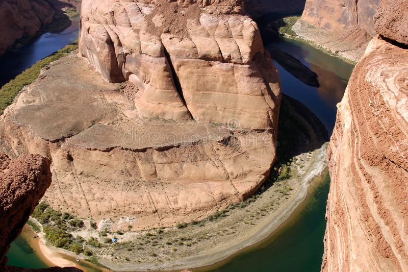 Horseshoe Bend overlook in Arizona stock images