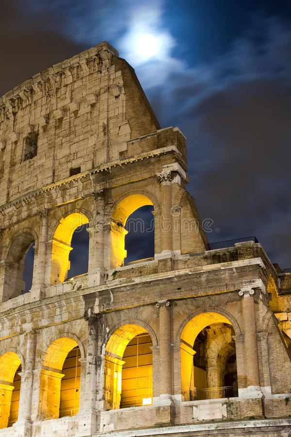 View of the Colosseum at night. Italy stock photos