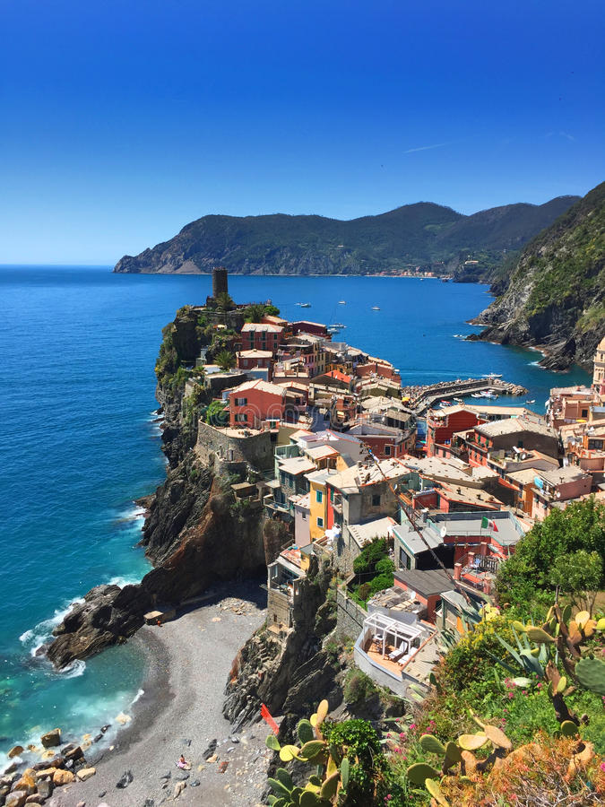 View on the colours of Vernazza royalty free stock photos