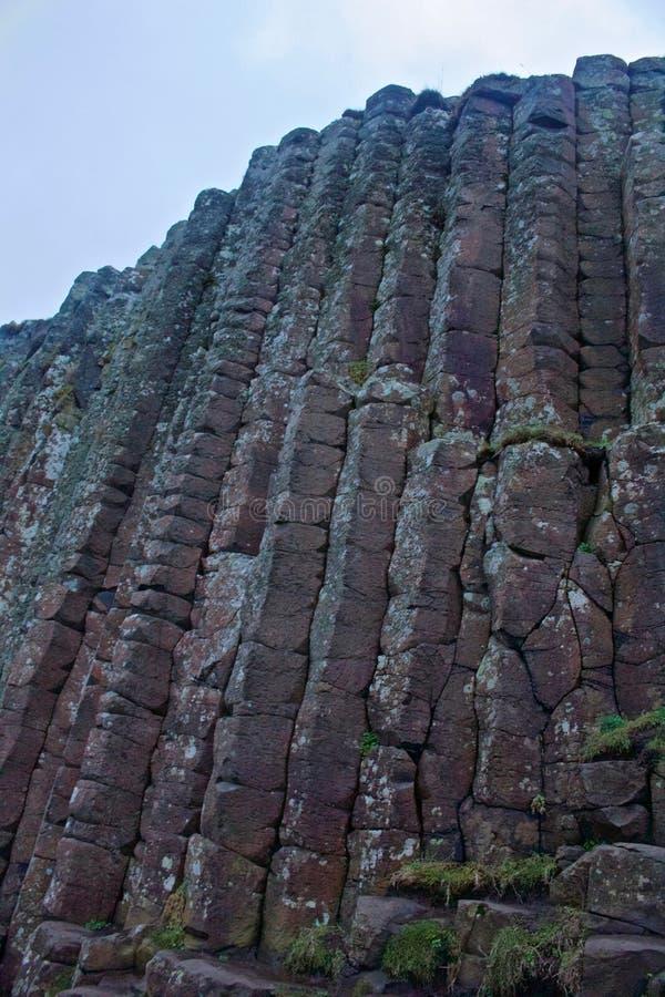 Columns of Rocks of Giants Causeway stock photography