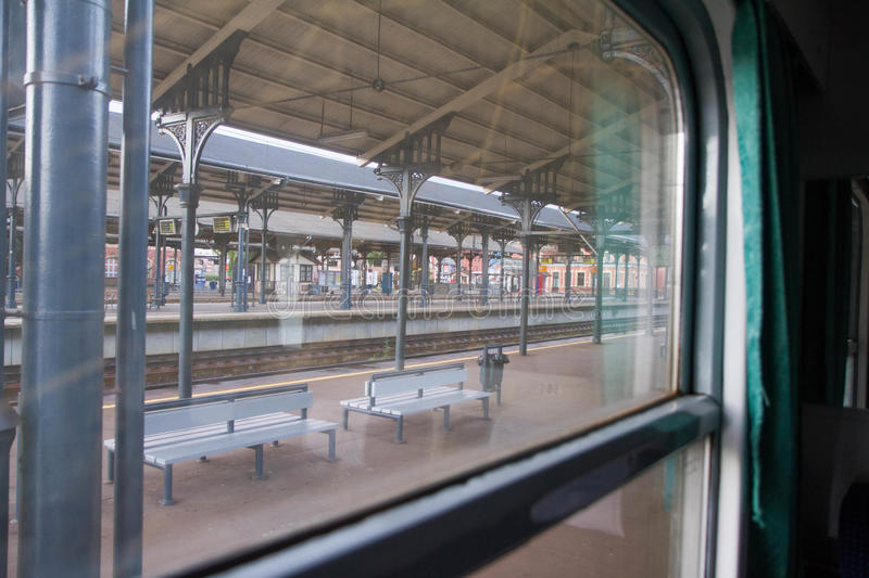 View from a compartment coach window royalty free stock images