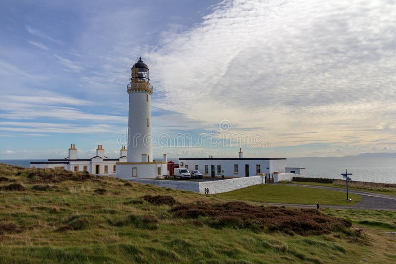 Mull of Galloway lighthouse in Scotland, United Kindom. View of the compound surrounding the Mull of Galloway lighthouse in Dumfries and Galloway, Scotland royalty free stock image
