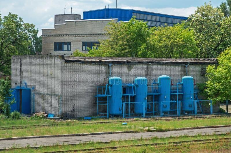 Compressor station royalty free stock photos