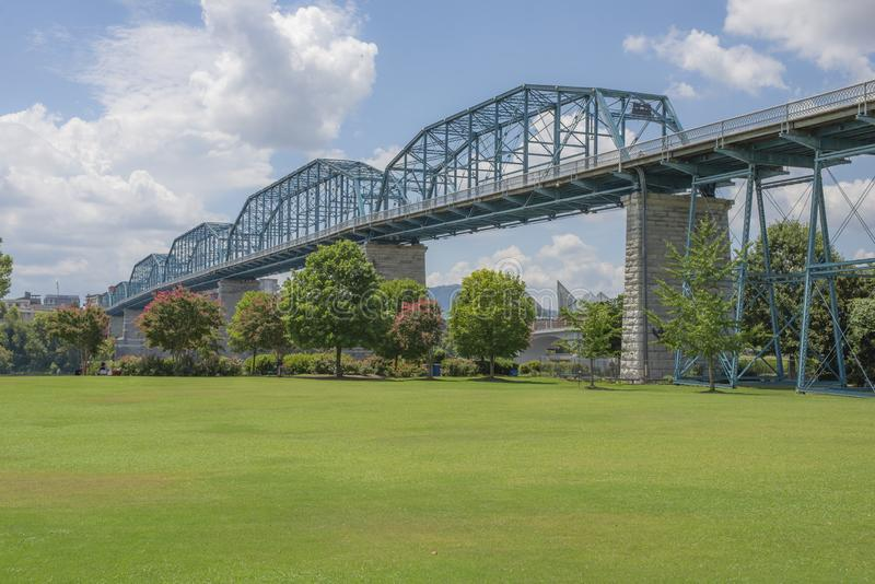 View of Coolidge Park, Chattanooga, Tennessee royalty free stock photo