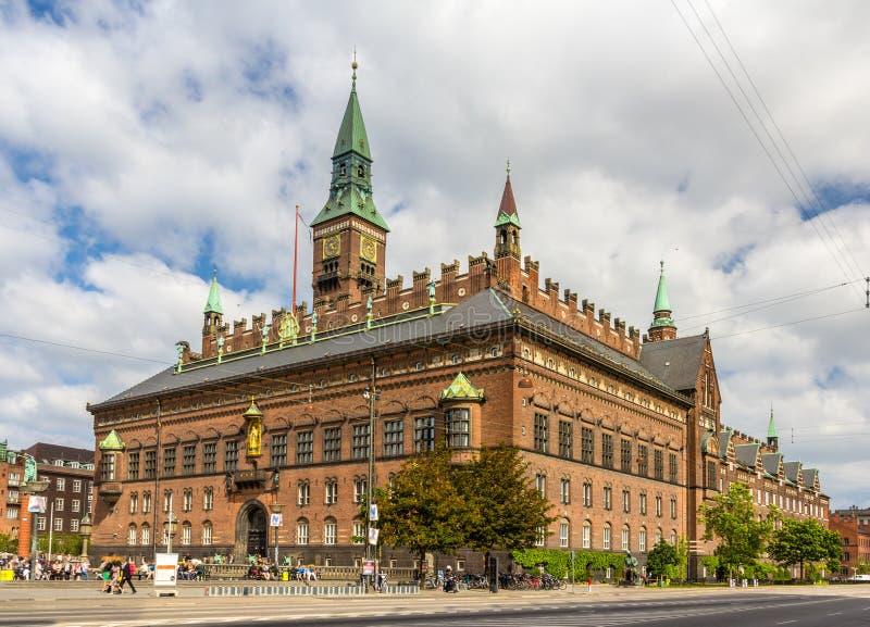 View of Copenhagen city hall, Denmark royalty free stock photo