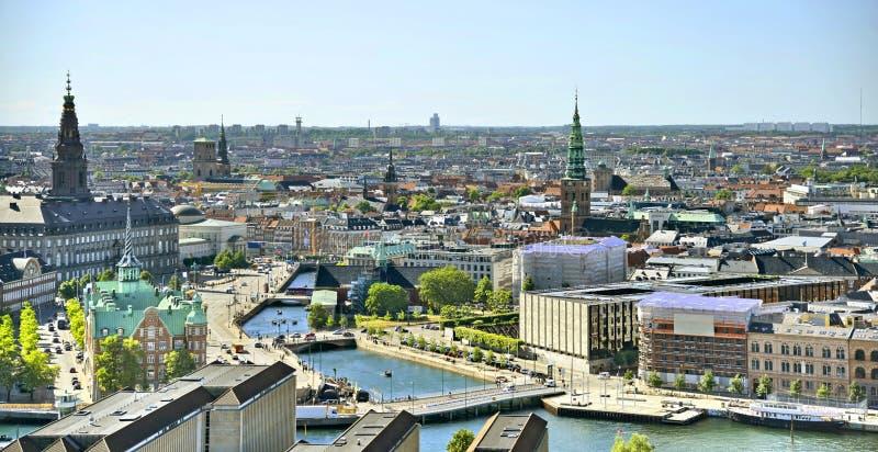 View of the Copenhagen,Denmark royalty free stock photo