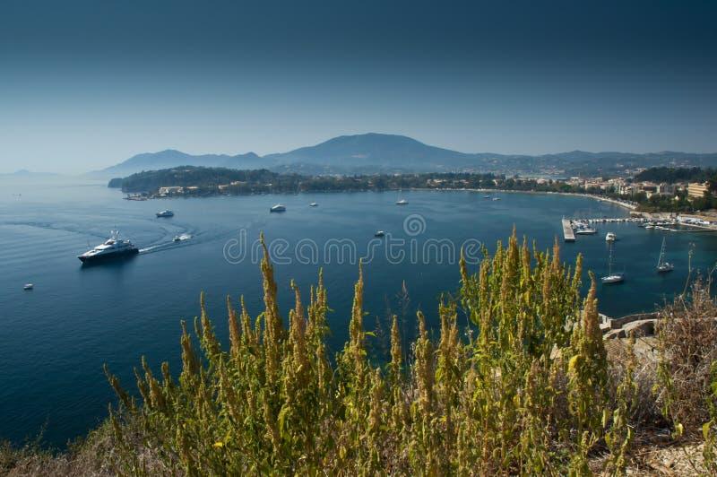 Download View of Corfu harbour stock image. Image of greece, pontoon - 26468965