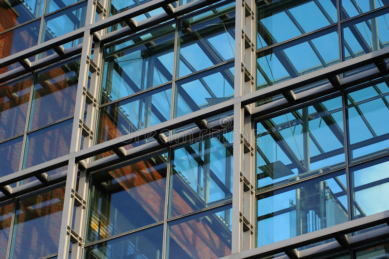 View of a corporate building (close-up) royalty free stock photos