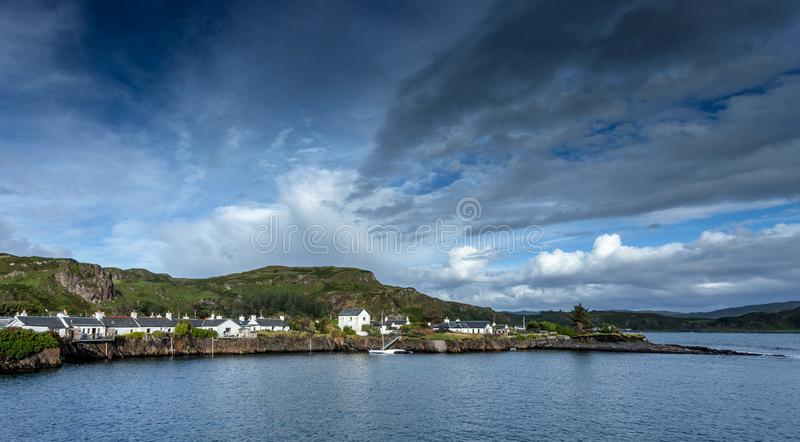 Ellenabeich Scotland. West coast royalty free stock images
