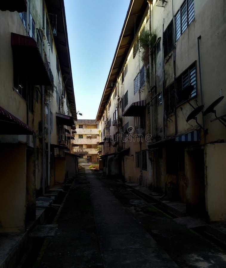 Courtyard at Johor Bahru suburbs stock photo