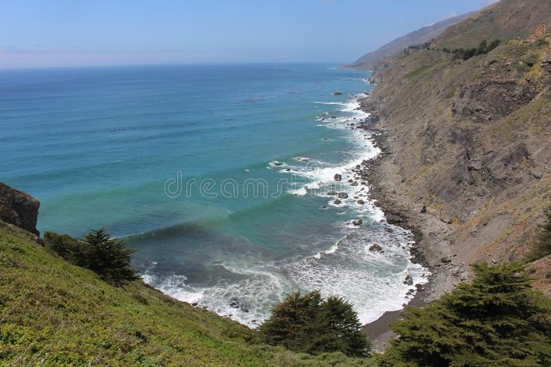 View of Cove from Roadside at Ragged Point royalty free stock photos