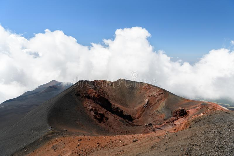 Mt Etna Volcano stock photo