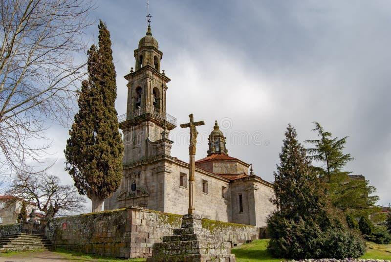 Church of San Benito in the village of Allariz in Orense royalty free stock image
