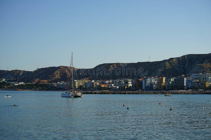 View of Crotone, Calabria - Italy. View of Crotone from the seafront, Calabria - Italy stock images
