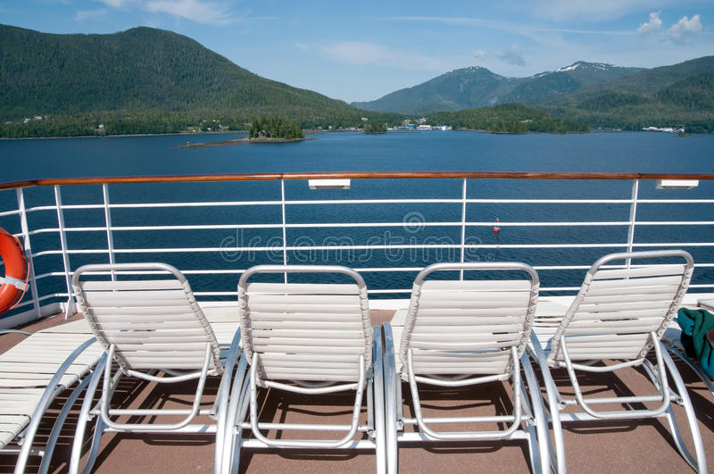 View from cruise ship deck. In Alaska royalty free stock photo