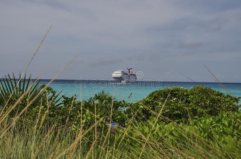 View of the cruise ship stock photography