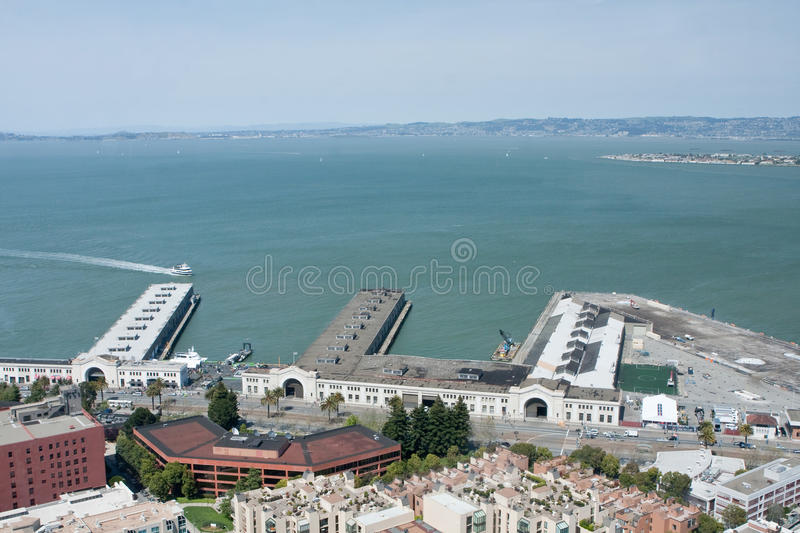 View Of Cruise Ship Piers In San Francisco Bay Stock Photo